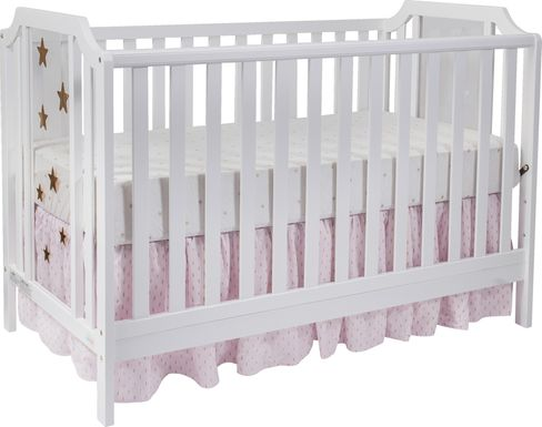 Starry Grove White Convertible Crib