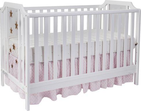 Starry Grove White Convertible Crib