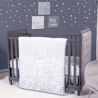 Starry Slumbers Gray 3 Pc Baby Bedding Set