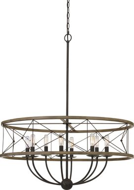 Stauffer Lane Wood Chandelier