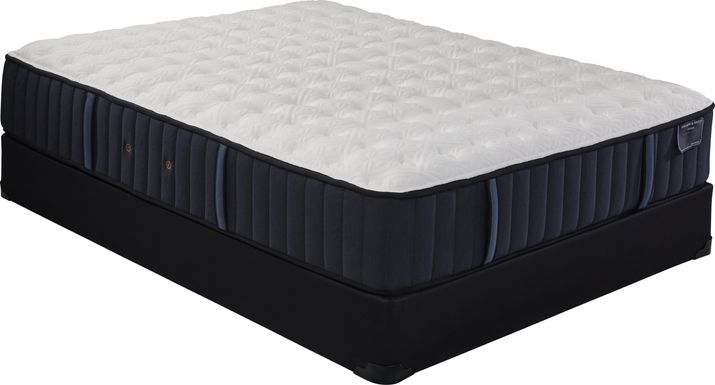 Stearns and Foster Hurston Firm Low Profile Queen Mattress Set
