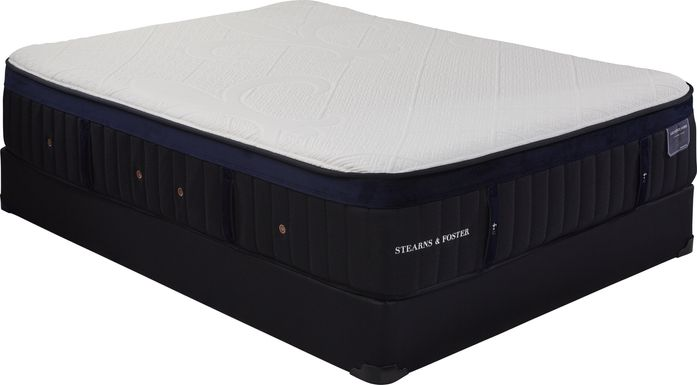 Stearns and Foster Pollock Low Profile King Mattress Set