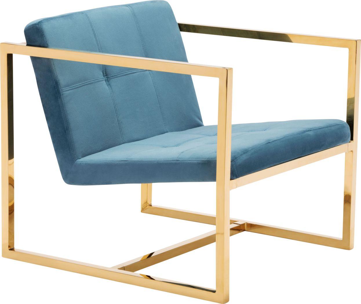 Stellary Blue Accent Chair