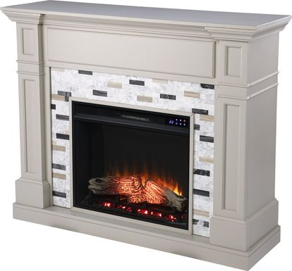 Stembridge IV Gray 48 in. Console With Electric Fireplace