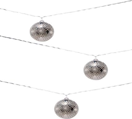 Sterling Drops Silver Outdoor Solar String Lights