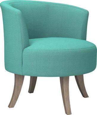 Stoneleigh Aqua Accent Swivel Chair