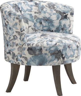 Stoneleigh Blue Accent Swivel Chair