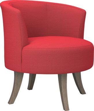 Stoneleigh Red Accent Swivel Chair