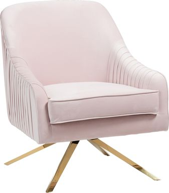 Strawflower Pink Accent Chair