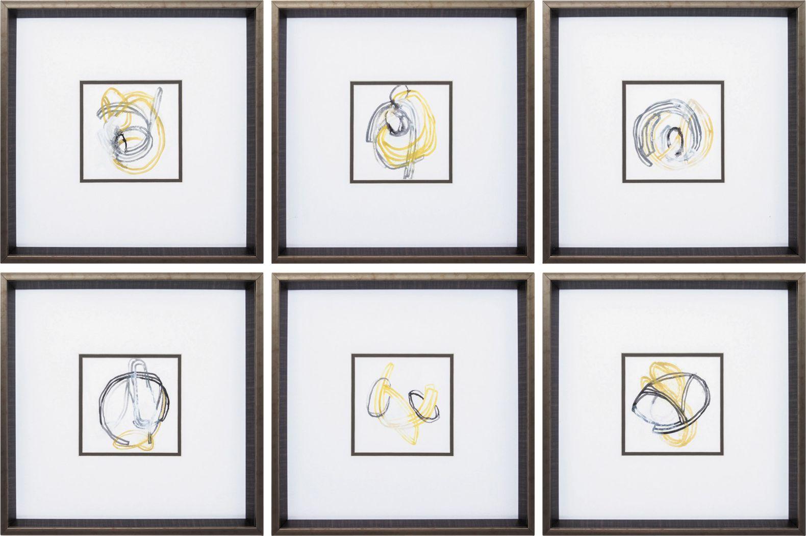 String Orbit Set of 6 Artwork