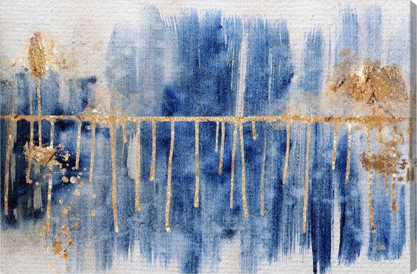 Strong Boundaries Blue Artwork