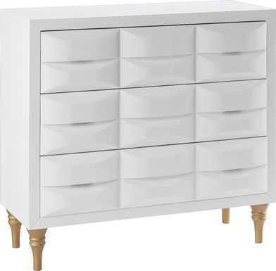 Strother White Accent Cabinet