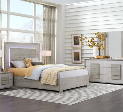 Studio Place Silver 5 Pc King Bedroom
