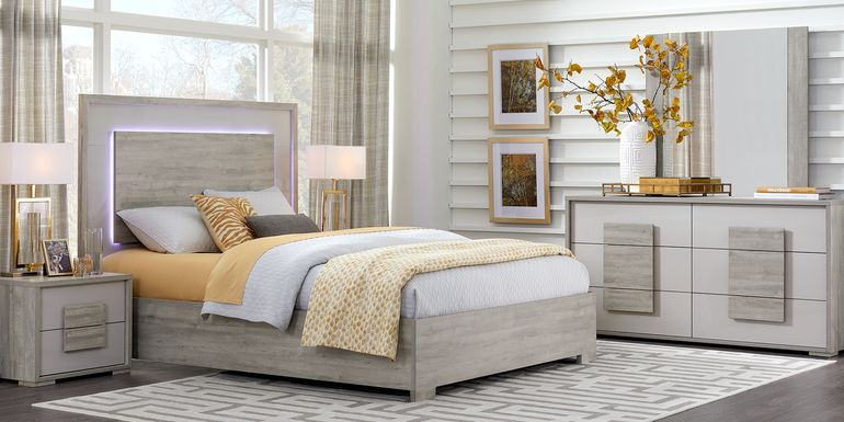 Studio Place Silver 5 Pc Queen Bedroom