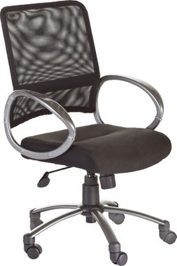Kids Study Break Black Desk Chair