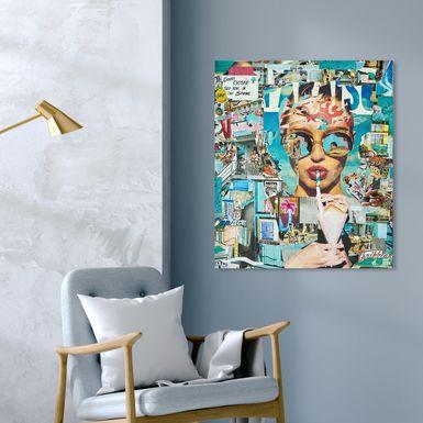 Summer Glam Blue Artwork
