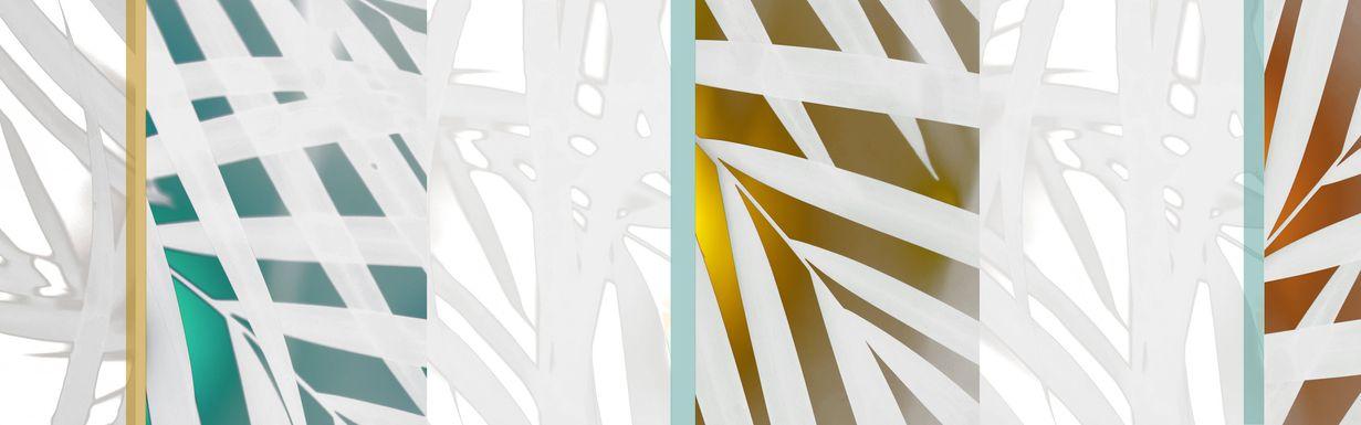 Summer Palm Trees I Teal Artwork
