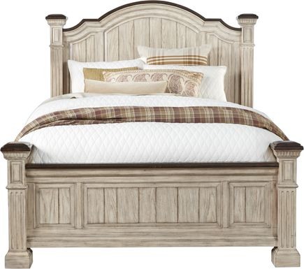 Summerset Cream 3 Pc King Poster Bed