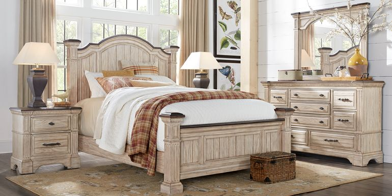 Summerset Cream 7 Pc King Poster Bedroom
