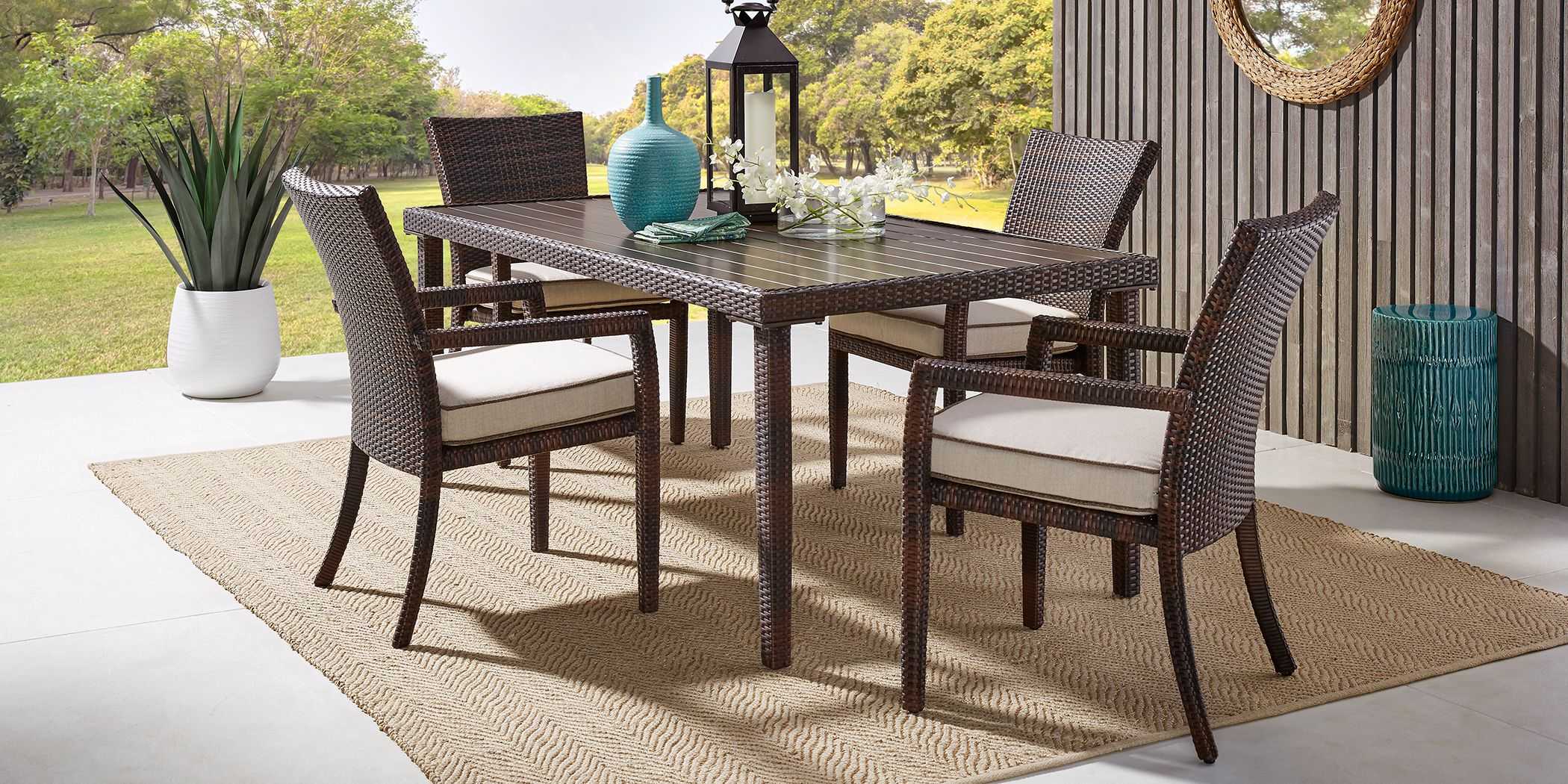 Summerset Way Brown 5 Pc Rectangle Outdoor Dining Set