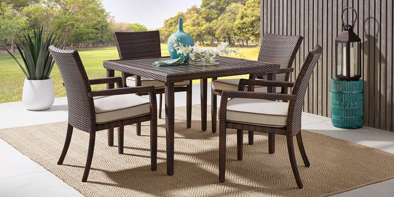 Summerset Way Brown 5 Pc Square Outdoor Dining Set