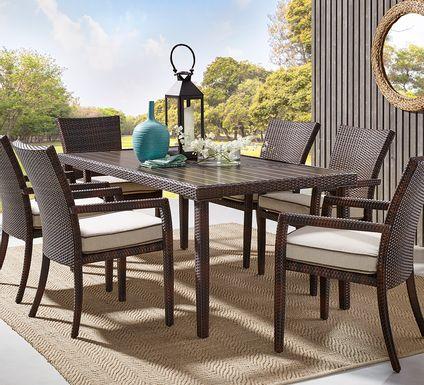 Summerset Way Brown 7 Pc Rectangle Outdoor Dining Set