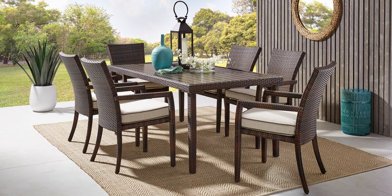 Summerset Way Brown 7 Pc Rectangle Outdoor Dining Set