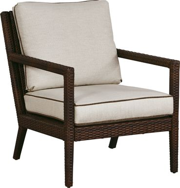 Summerset Way Brown Outdoor Chair with Sandstone Cushions