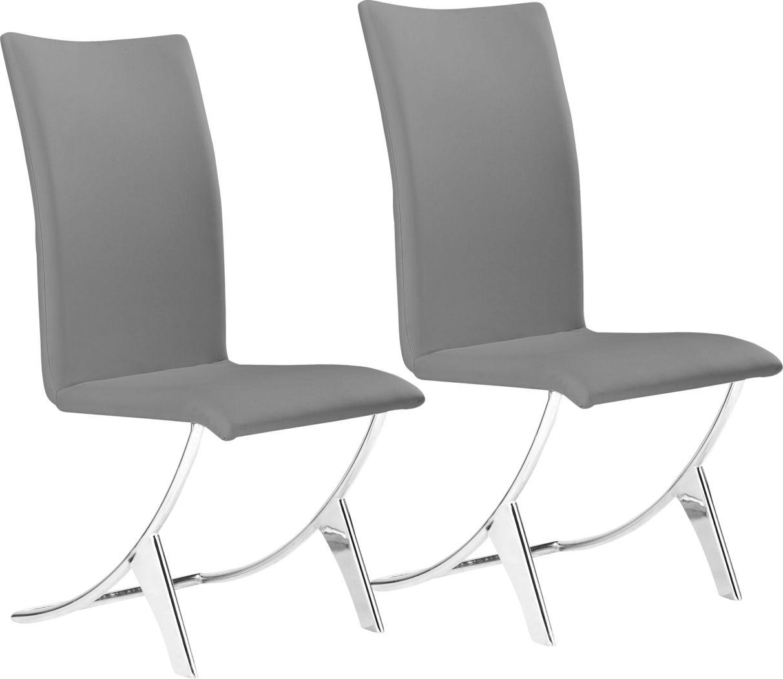 Sunniva Gray Side Chair, Set of 2