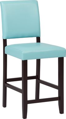Sunset View Blue Counter Height Stool