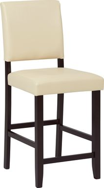 Sunset View Cream Counter Height Stool