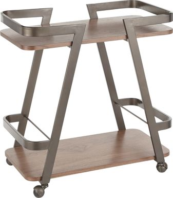 Sutherlin Walnut Bar Cart