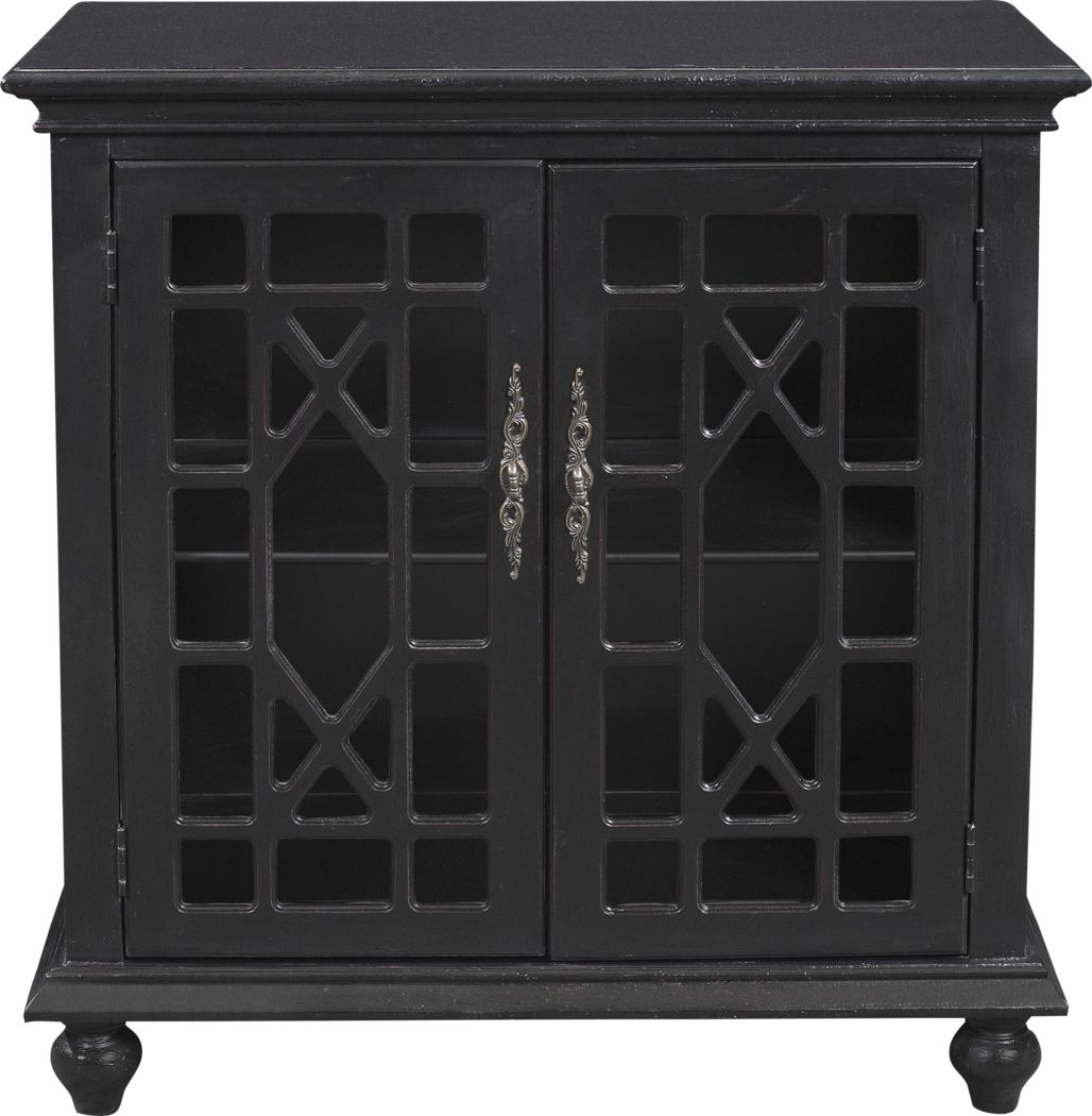 Swansboro II Black Accent Cabinet