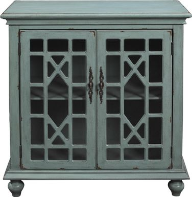 Swansboro II Blue Accent Cabinet