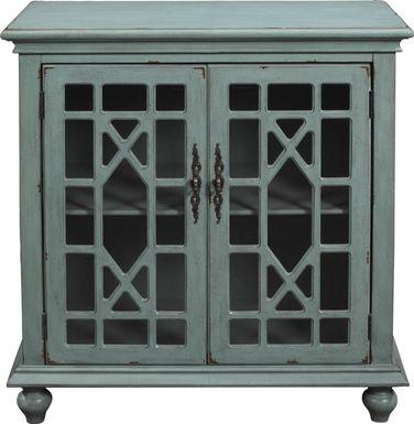 Swansboro II Blue Accent Cabinet