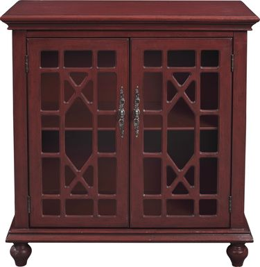 Swansboro II Red Accent Cabinet