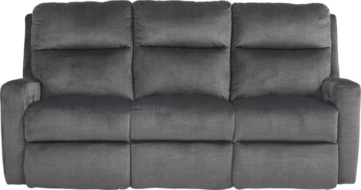 Swansen Graphite Dual Power Reclining Sofa
