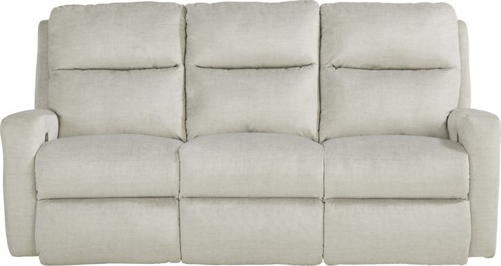 Swansen Gray Dual Power Reclining Sofa