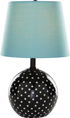 Kids Sweet Dottie Blue Polka Dot Lamp