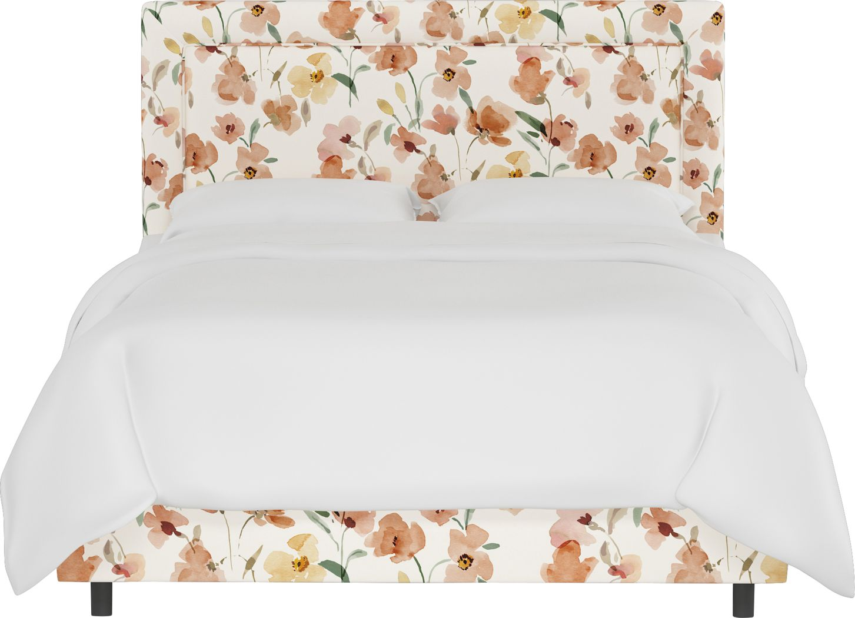 Sweet Plains Cream King Upholstered Bed