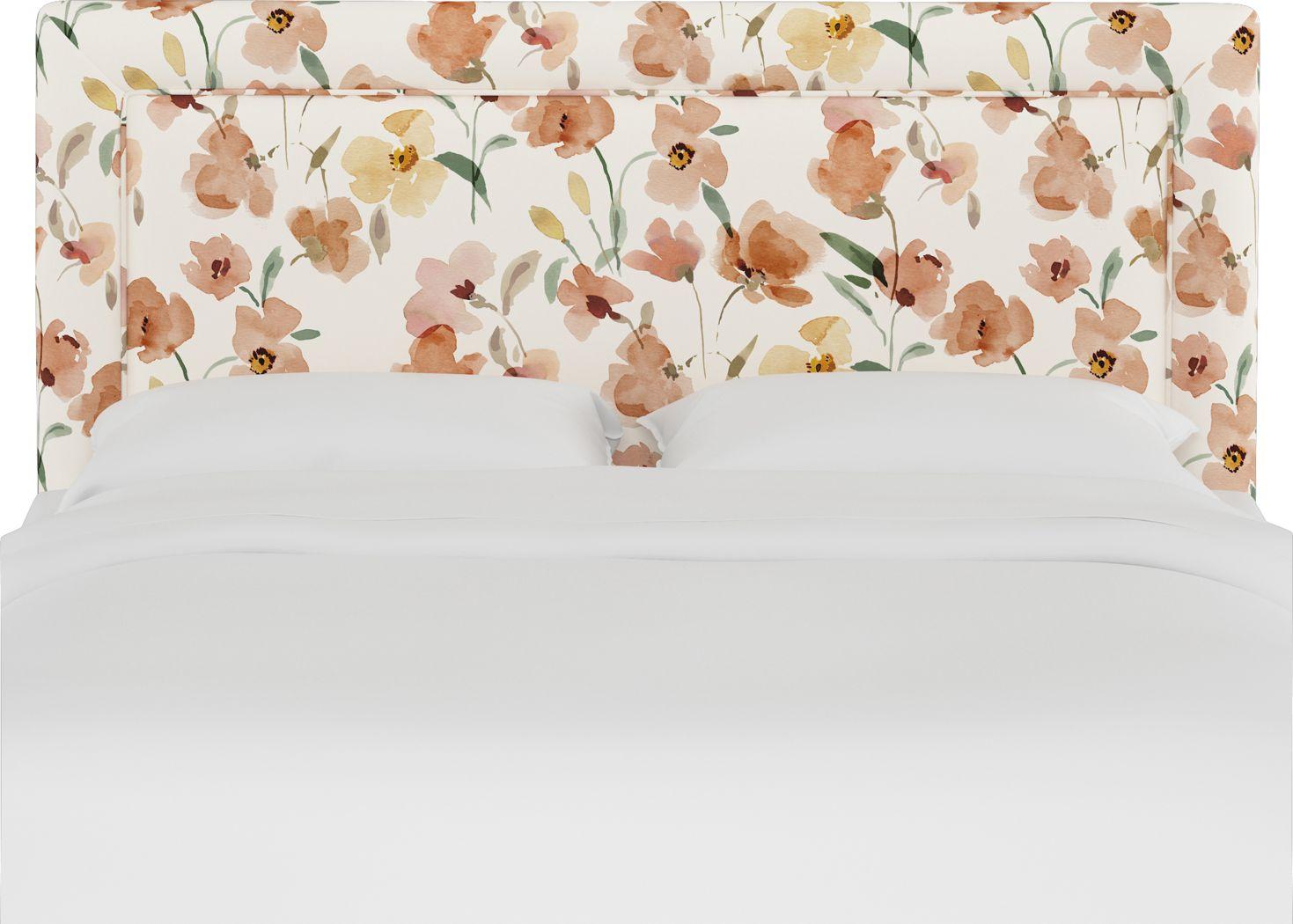 Sweet Plains Cream Queen Upholstered Headboard