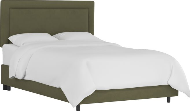Sweet Plains Green Queen Upholstered Bed