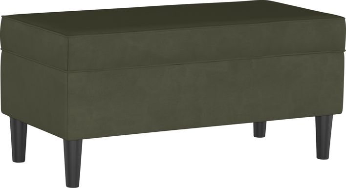 Sweet Plains Green Storage Bench