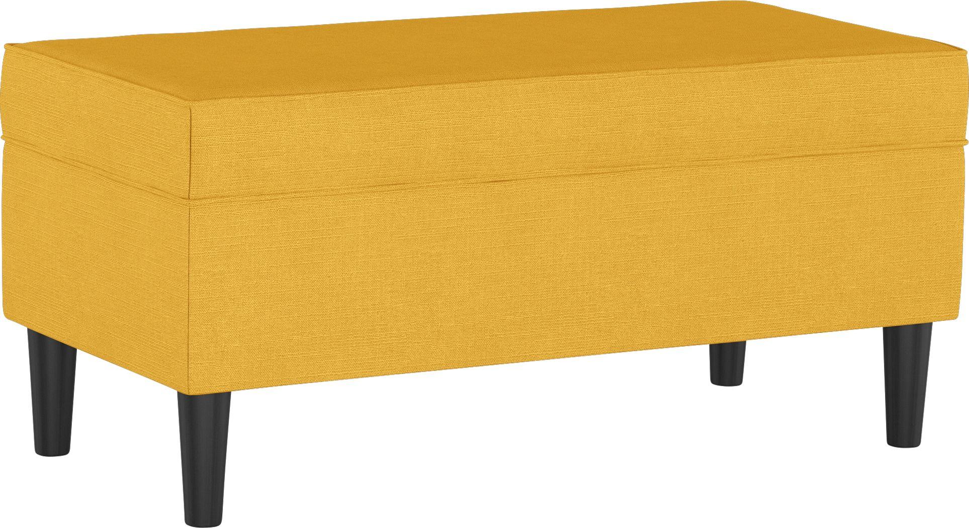 Sweet Plains Yellow Storage Bench