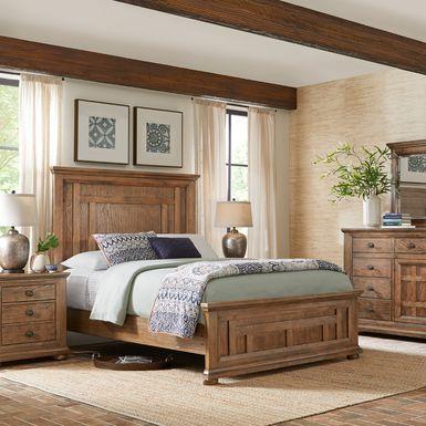 Sycamore Trail Oak 5 Pc Queen Bedroom