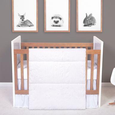 Syden White 3 Pc Baby Bedding Set