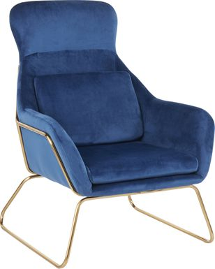Sylvest Blue Accent Chair