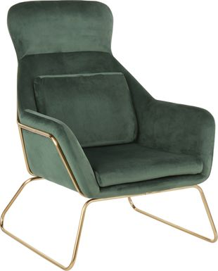 Sylvest Green Accent Chair