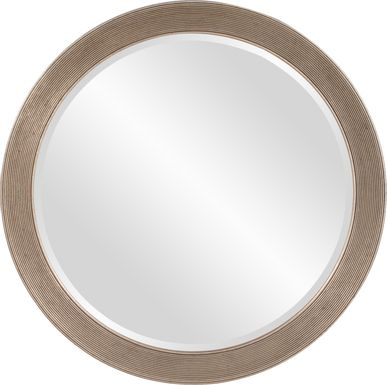 Syna Silver Round Mirror
