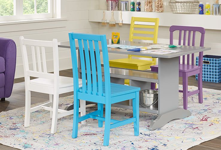 Kids 5 Pc Storage Table Set